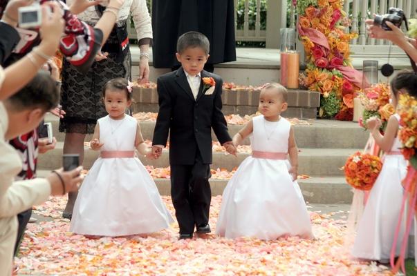 Child attendants at a wedding