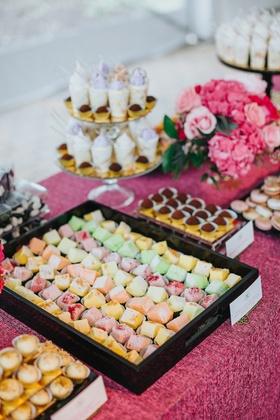 mesa de postres, latin desserts, dessert table at wedding