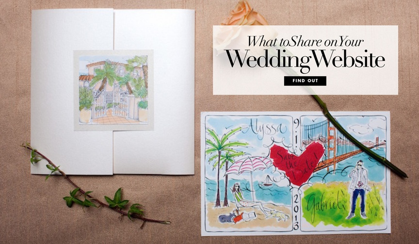 Wedding website what details to share with your guests