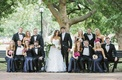 Bride and groom with bridesmaids and groomsmen