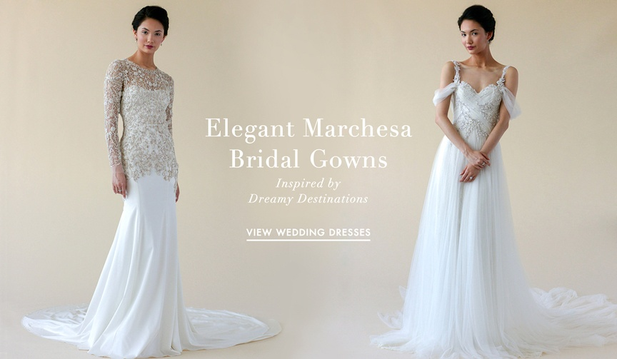 Marchesa wedding dresses for The St. Regis