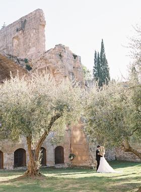 wedding portrait at old abbey orvieto umbria italy destination wedding venue ideas
