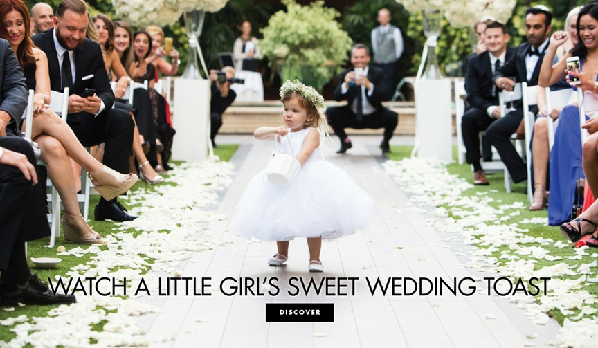 funny cute wedding toast from a four year old girl