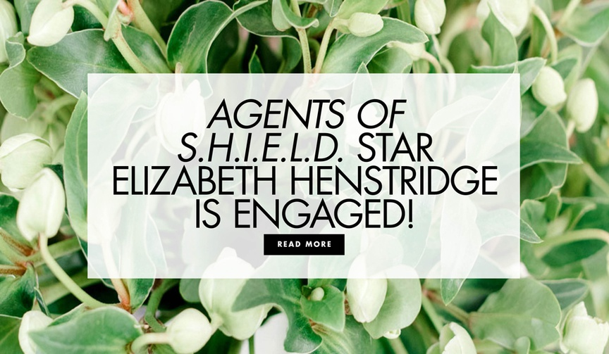 agents of s.h.i.e.l.d. Elizabeth Henstridge & Zachary Burr Abel Engaged, three-stone engagement ring