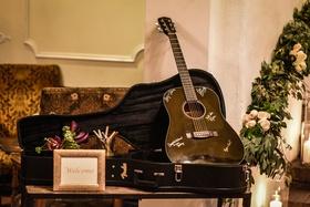 hector maldonado train wedding fender guitar guest book metallic signatures