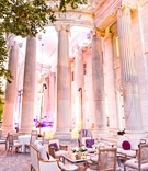 Wedding lounge area outdoors columns washington dc wedding venue french country lounge furniture