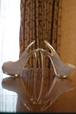 Joanna Krupa's platform sparkle wedding shoes