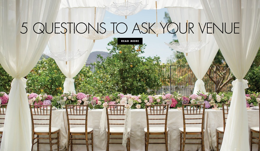 What to ask your wedding venue before the ceremony and reception
