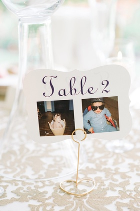 table number old photos couple age 2 two south carolina wedding cute personal detail calligraphy