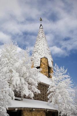 Aspen, Colorado church in winter