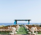 Wedding ceremony Jewish at Terranea Ranchos Palos Verdes CA bluff over ocean natural decor