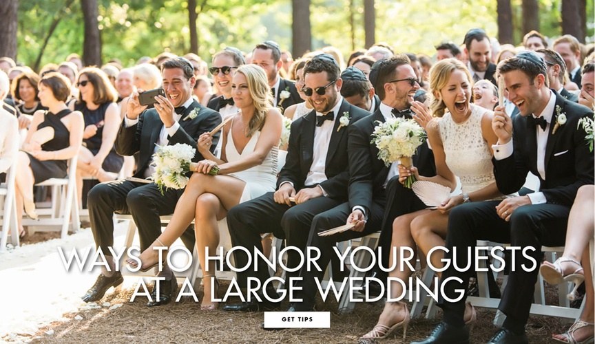 Make the big day feel intimate even when there are hundreds of attendees.