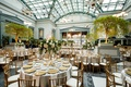 harold washington library wedding venue in chicago reception gold greenery white flowers