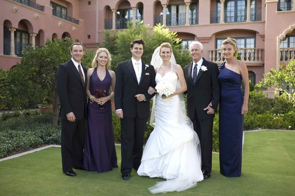 Newlyweds at Grand Del Mar with parents