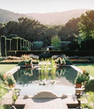 wedding at filoli, garden wedding location, pond in garden estate