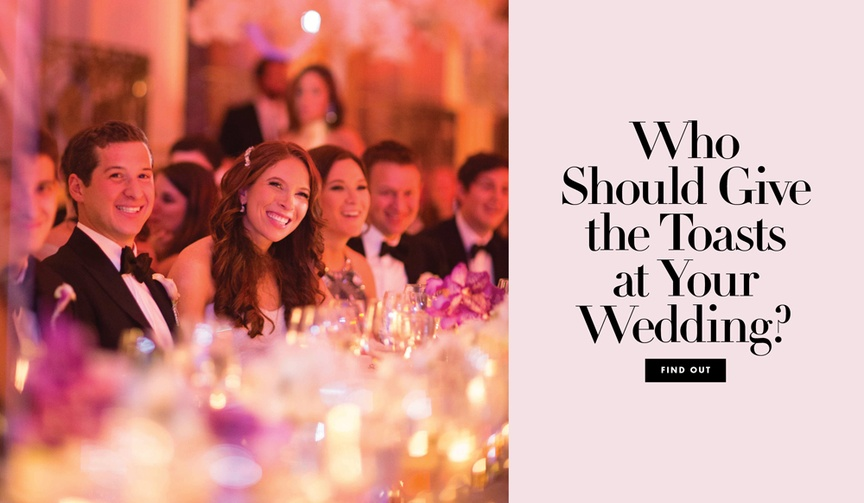 A guide to the schedule of reception toasts, who needs to give a wedding speech