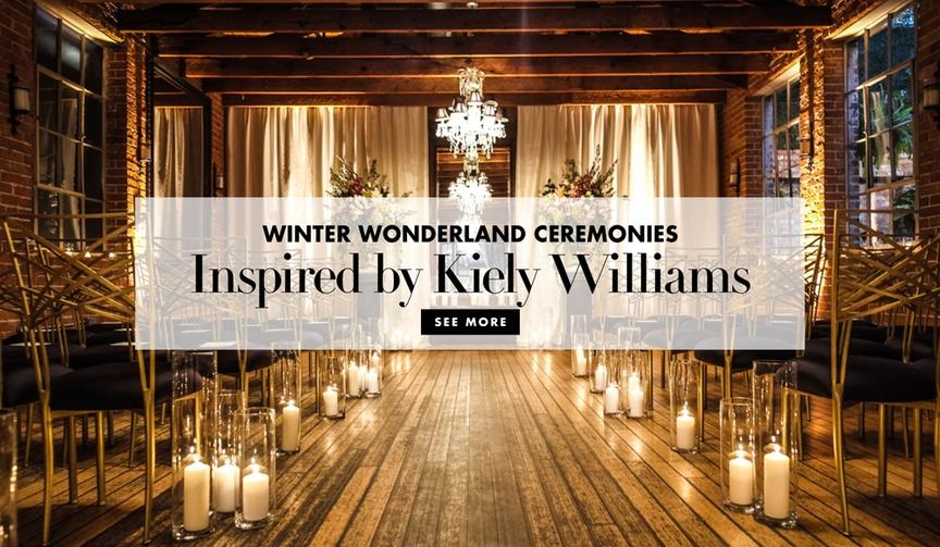 Winter wonderland ceremony inspiration from Kiely Williams 3LW Cheetah Girls ceremonies
