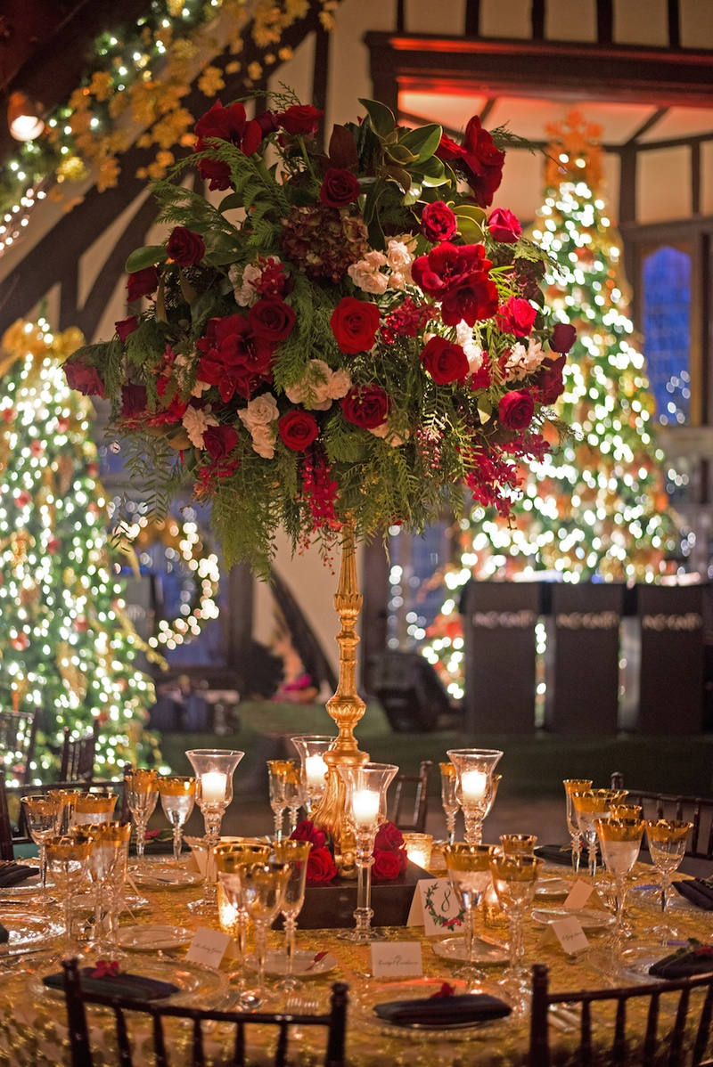 Reception Dcor Photos Holiday Theme Gold Wedding Table Inside