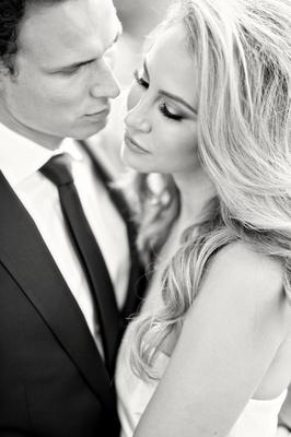 bride and groom sexy portrait