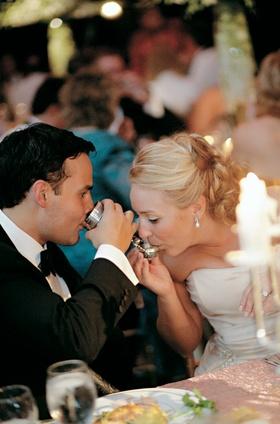 bride and groom drink from nuremberg bridal cup