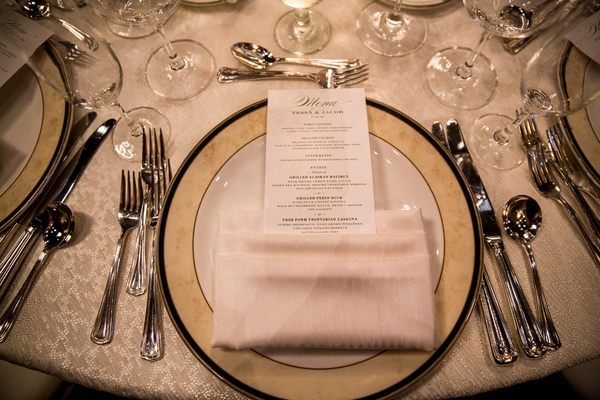 old-fashioned charger place, champagne lace linen table cloth