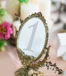 vintage gold mirror table number Ukrainian wedding kiev kyiv old ancient traditional reception decor