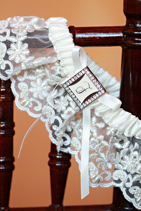 Wedding night lingerie with ribbon and rhinestones