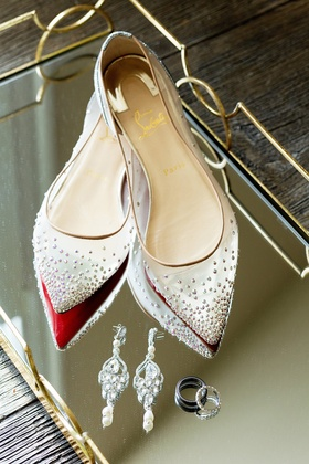 christian louboutin pointed-toe pumps sheer with crystal details