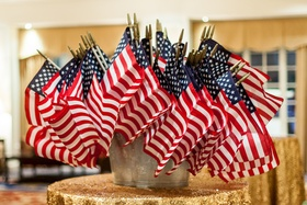Wedding favors for USMC wedding - American Flags