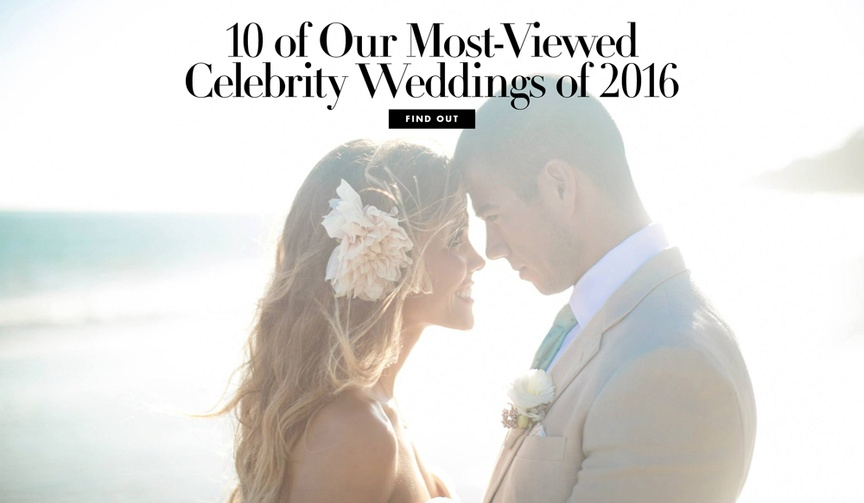 10 of our most viewed weddings in 2016 inside weddings magazine inspiration from stars