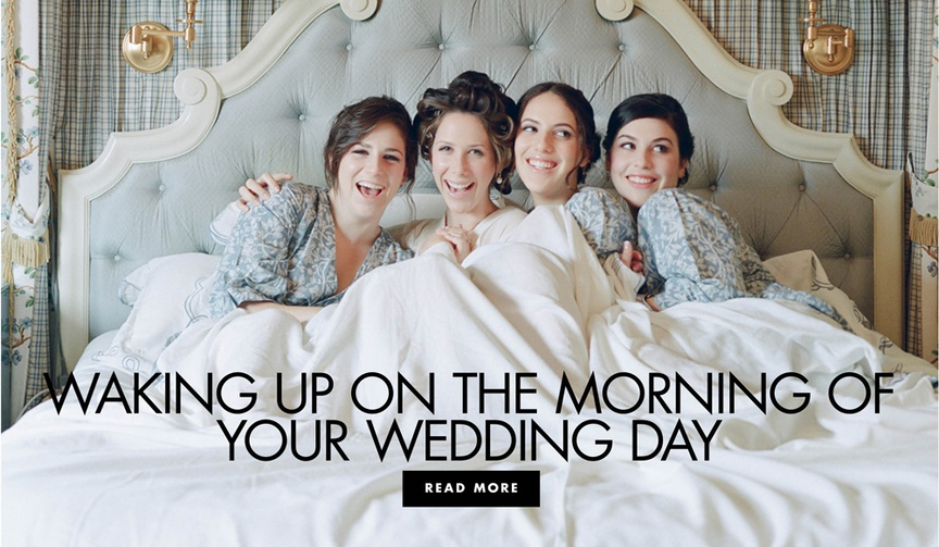 waking up on the morning of your wedding day what to do the morning of your ceremony and reception