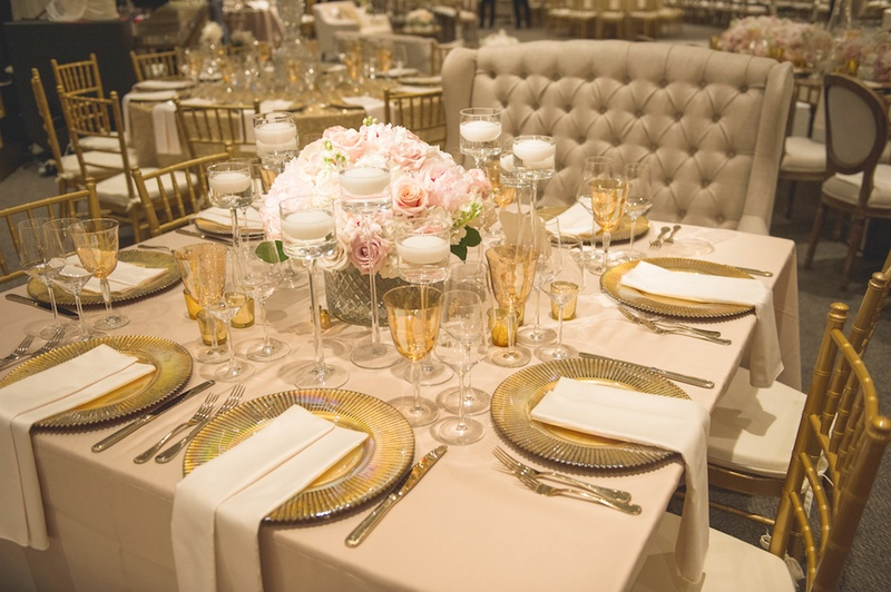 Reception D 233 Cor Photos Golden Place Settings At Houston