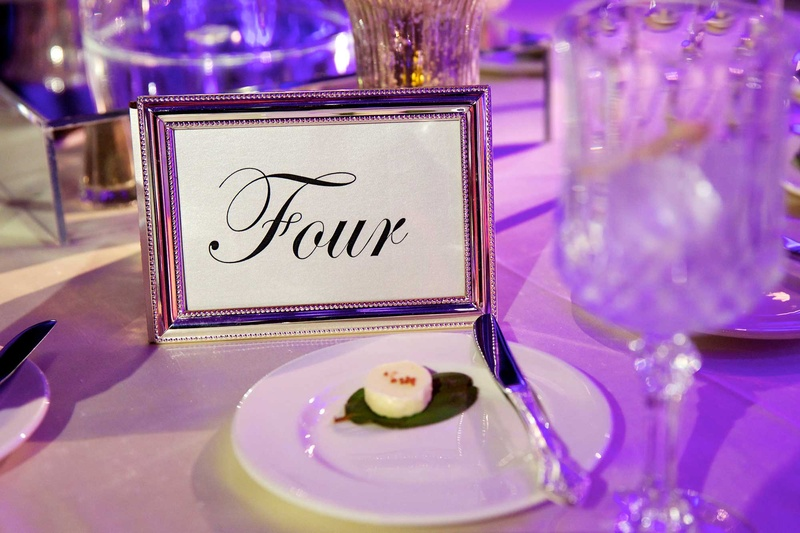 Invitations & More Photos - Script Font Table Number in Silver Frame ...
