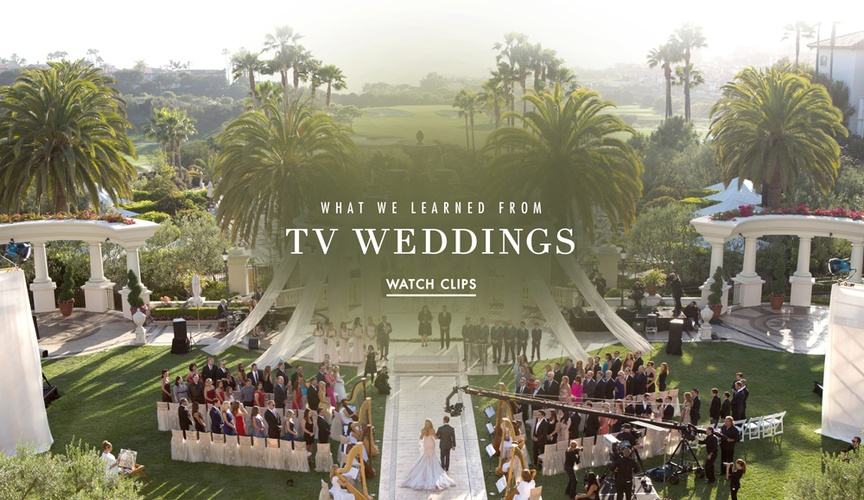 What we learned from 7 TV weddings.