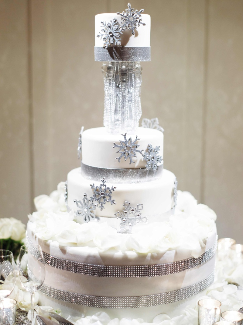 Cakes amp Desserts Photos Winter Themed Cake Inside Weddings