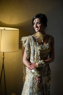 indian bride wearing henna