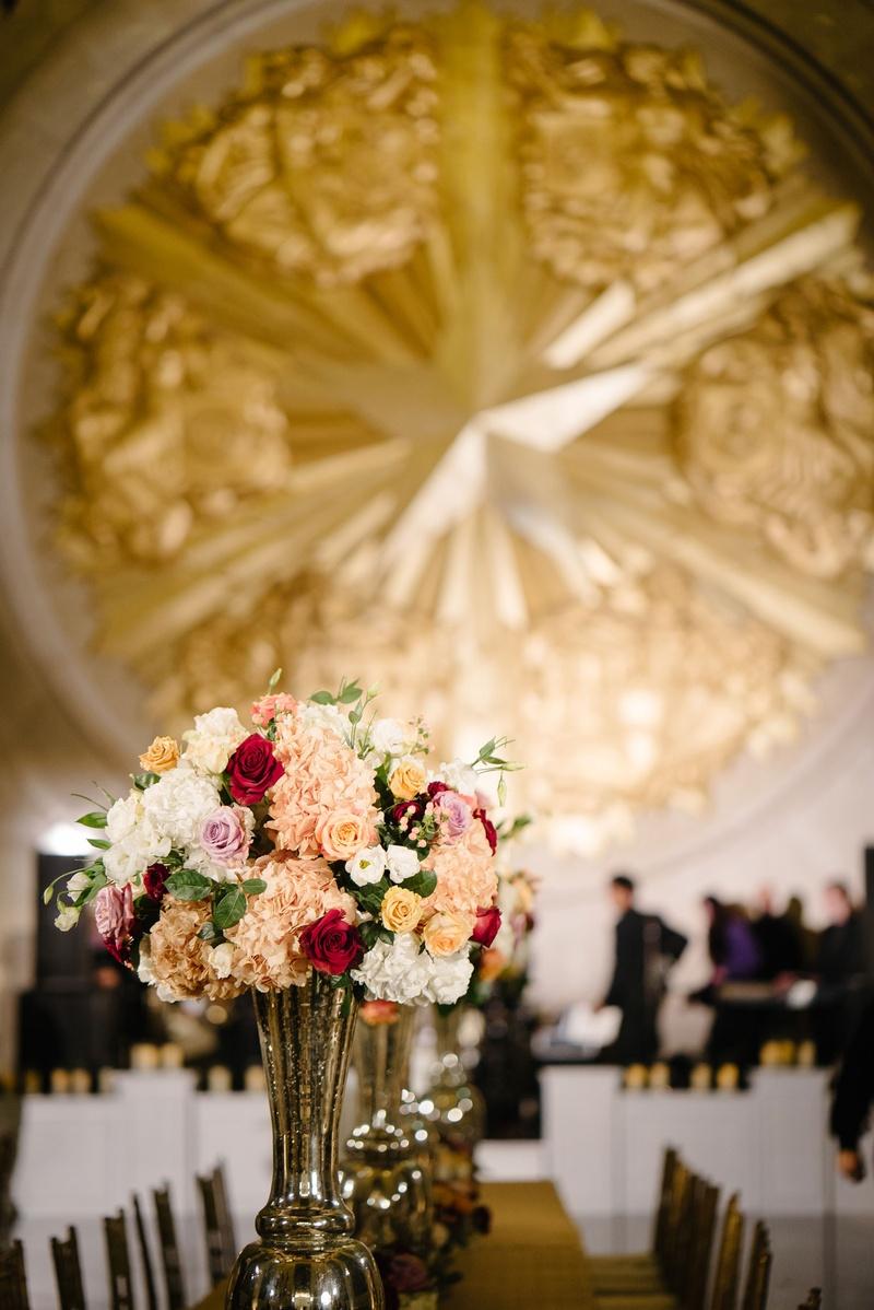 Reception Dcor Photos Burgundy Apricot Wedding Centerpieces