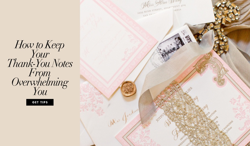 How to make the process of writing thank-you notes to wedding guests easier.