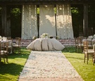 Ceremony site transformed into reception decor