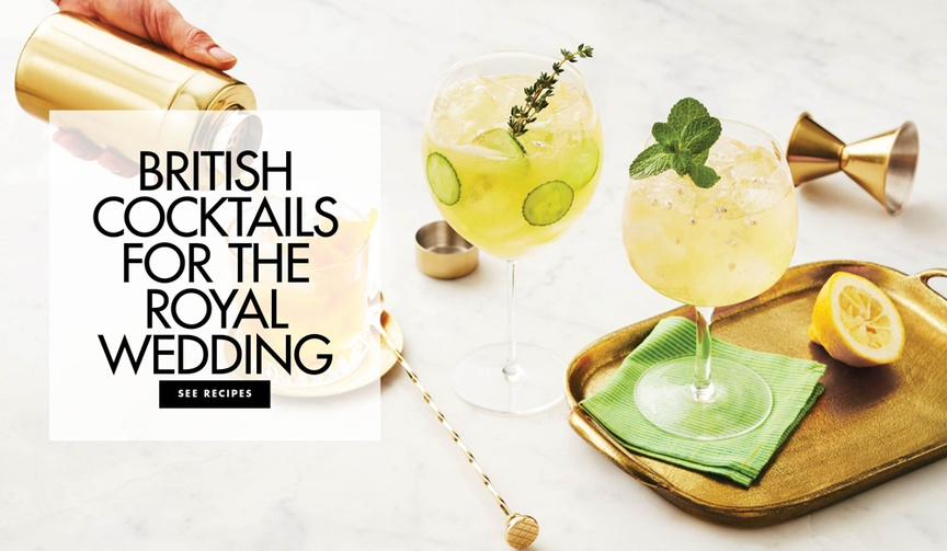 Be inspired to create these British cocktails for your royal wedding viewing party!