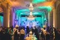wedding reception at biltmore ballrooms in atlanta with lighting cake dj booth countdown party favor
