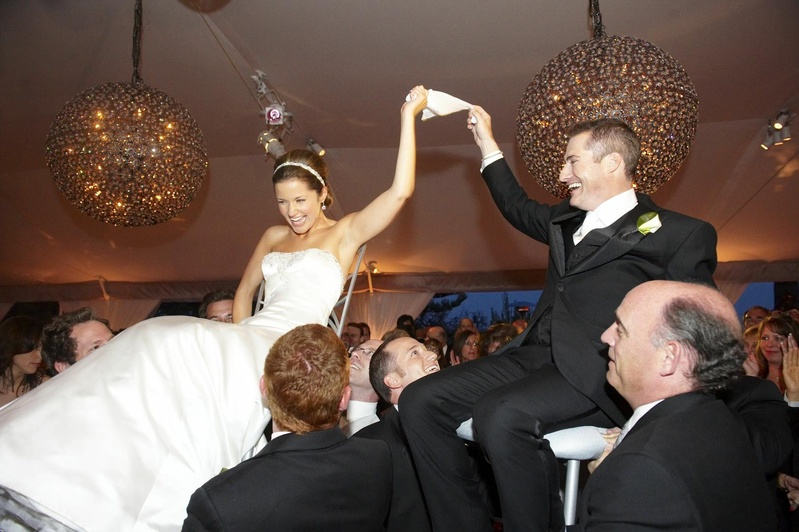 Bride and groom doing Hora wedding chair dance  sc 1 st  Inside Weddings & Entertainment Photos - Jewish Wedding Tradition - Inside Weddings