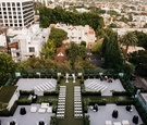 drone wedding photography, bird's eye view of rooftop ceremony