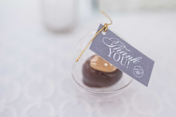 ohio state buckeye chocolate and peanut butter buckeye candy wedding favors