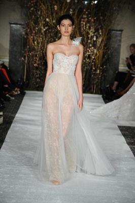 Mira Zwillinger Bridal Collection Spring 2017 Jasmine Strapless Wedding Dress With One Shoulder