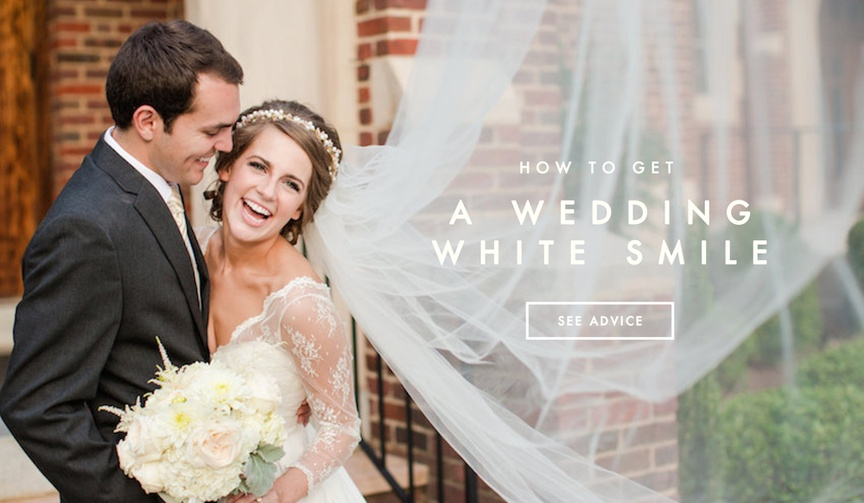 Health tips for a clean and white wedding day smile