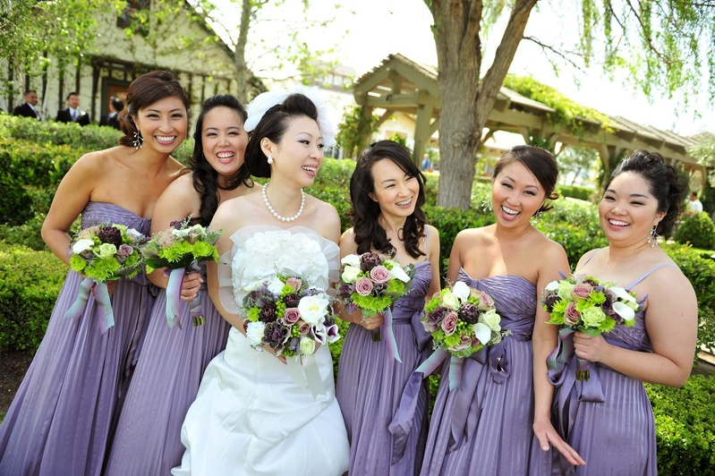 c47d27056 Brides + Bridesmaids Photos - Lavender Bridesmaid Dresses with ...