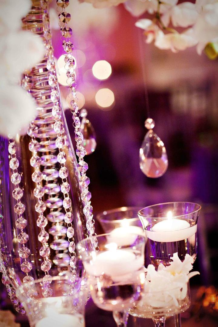 Reception Dcor Photos Opulent Crystal Decorations Inside Weddings