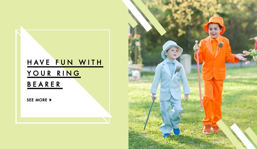Fun ways to send ring bearers down the aisle