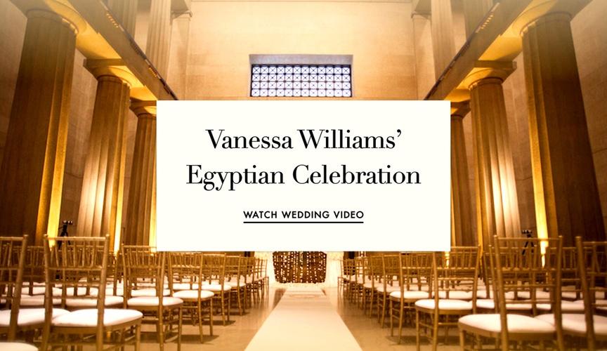 Vanessa Williams wedding video Egyptian wedding theme